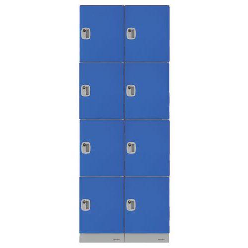 Kunststoffspind mit mehreren Fächern- Fachhöhe 474mm- Zum Aufbauen- Manutan