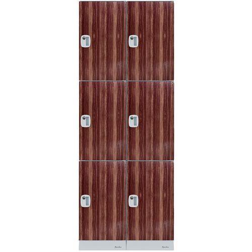 Kunststoffspind mit mehreren Fächern- Fachhöhe 632mm- Zum Aufbauen- Manutan