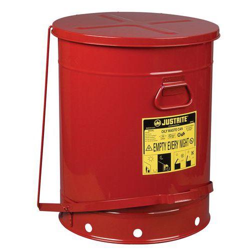 Behälter für ölige Abfälle, rot, 80L- Justrite