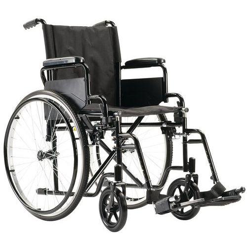 Rollstuhl mit fester Rückenlehne in Schwarz