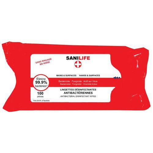 Covid Spezial- Desinfektionstuch Sanilife für Hände und Flächen