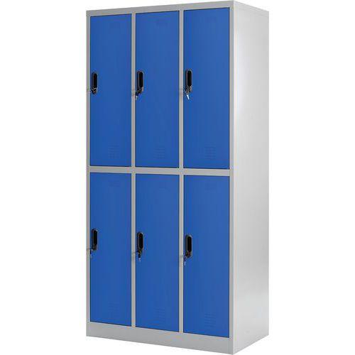 Spind mit mehreren Garderobenfächern- 3Säulen- auf Sockel- zur Montage- Manutan