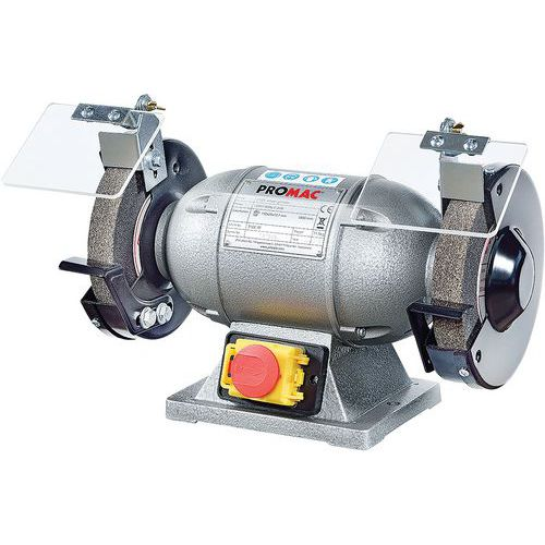 Schleifblock mit 2 Schleifsteinen PROMAC 316 E- Schleifstein Ø 150mm- 200W