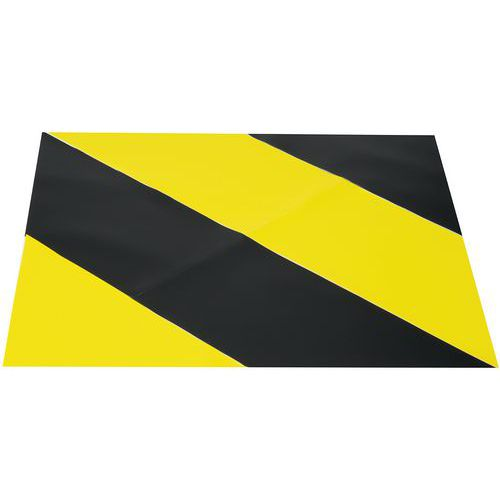 Klebeband zur Bodenmarkierung- Zweifarbiger Bereich- 900x900mm- Gergosign