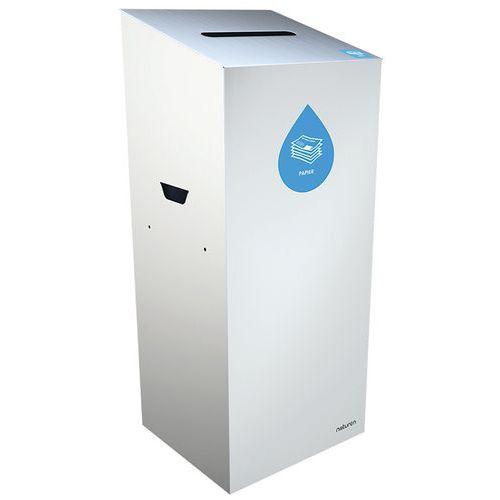 Abfallbehälter für Mülltrennung Uno- Papier- rechteckige Öffnung- 110L