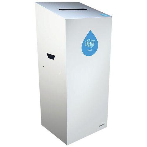 Abfallbehälter für Mülltrennung Uno- Papier- rechteckige Öffnung- 65L