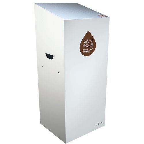 Abfallbehälter für Mülltrennung Uno- Biomüll- geschlossene Öffnung- 110L
