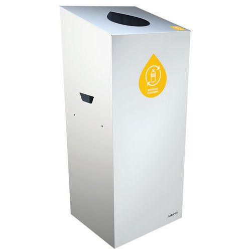 Abfallbehälter für Mülltrennung Uno- tropfenförmige Öffnung- 65L