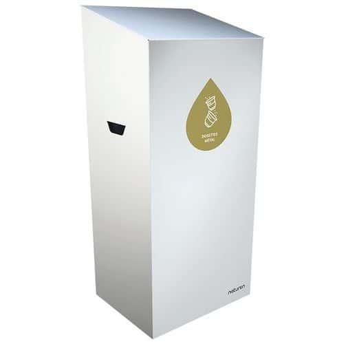 Abfallbehälter für Mülltrennung Uno- geschlossene Öffnung- 1L