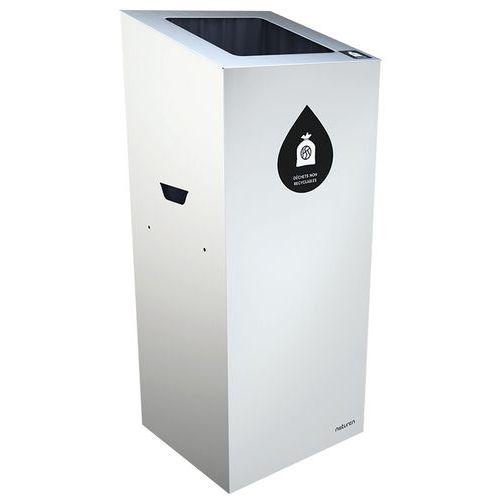 Abfallbehälter für die Mülltrennung Uno- quadratische Öffnung- Englisch- 65L